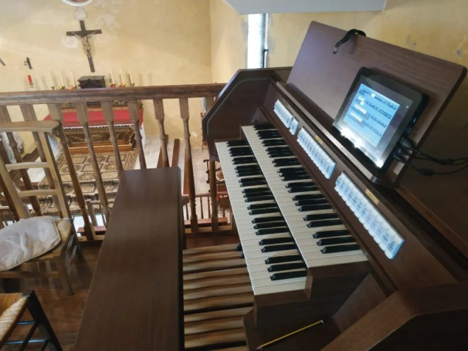 Digital organs have been used in place of pipe organs within churches for a while, but damp and the scarcity of spare parts mean they're not lasting as long