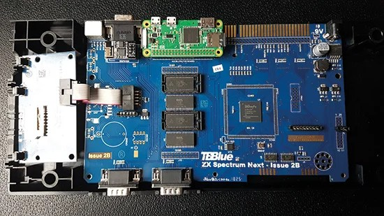 Rather than simply emulate the Spectrum, the Next uses a field-programmable gate array chip that acts as a Z80 processor with the addition of advanced features