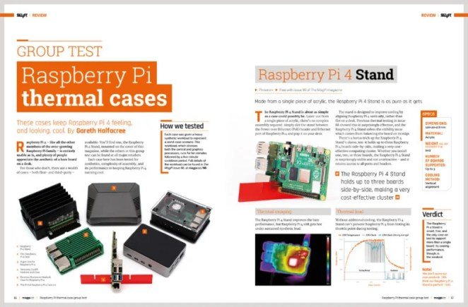 Raspberry Pi thermal cases group test