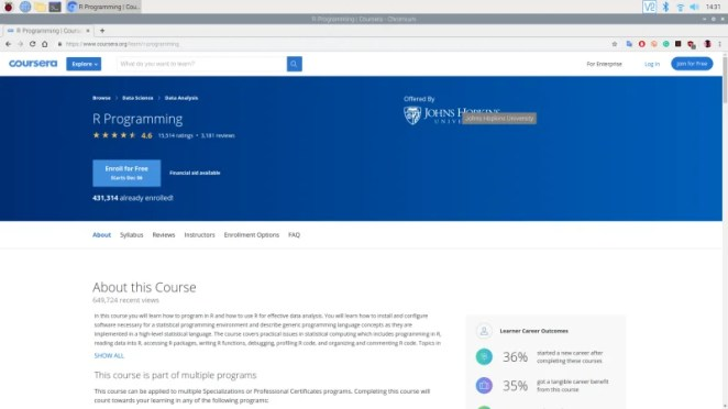 Coursera provides access to online learning tools provided by respected academic institutions