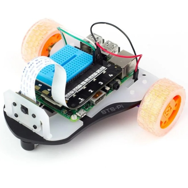 STS-Pi is a great two-wheeler robot kit