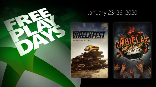 Free Play Days - Wreckfest and Zombieland