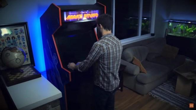 Bob Clagett talks you through making a full-size arcade machine. How retro-cool is that!