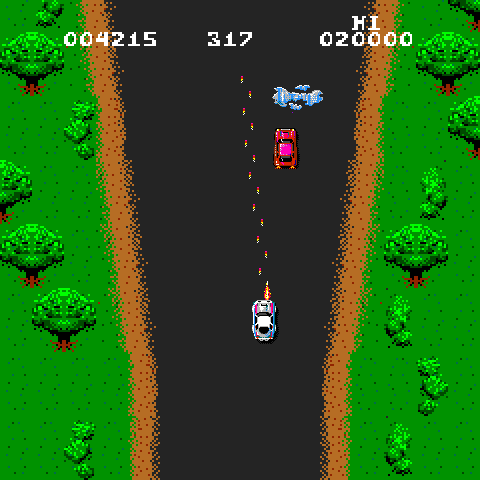 Spy Hunter, an arcade game from 1983