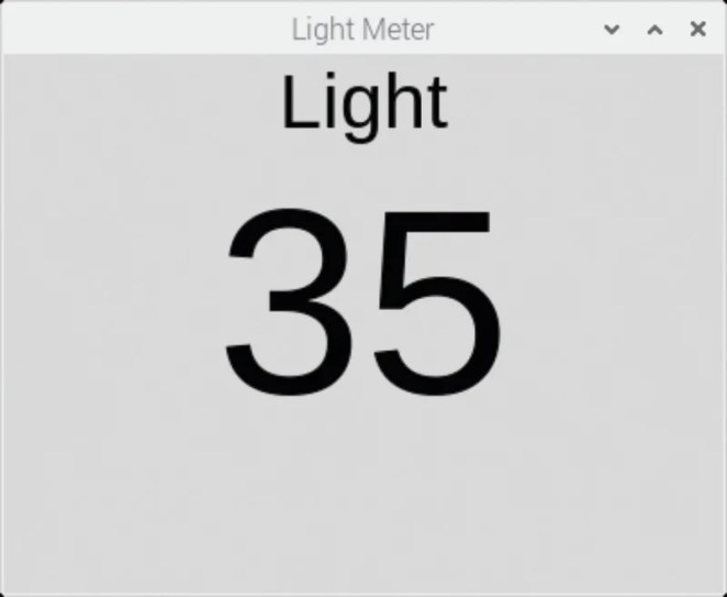 Figure 4 Displaying the light level