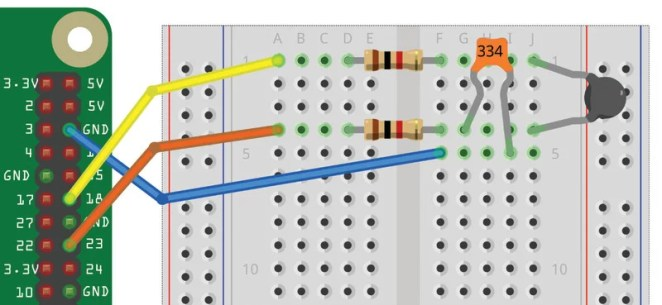 Figure 1 The thermometer wiring diagram