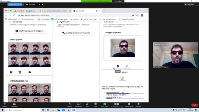 Screenshot of a demo of Juan David Rodríguez Garcia's LearningML tool