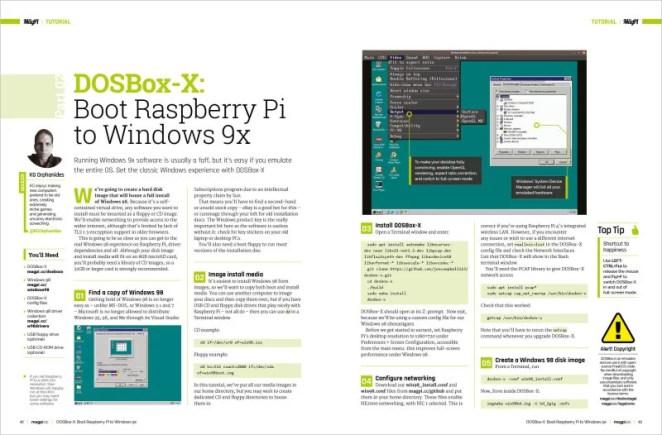Run Windows 98 software on Raspberry Pi
