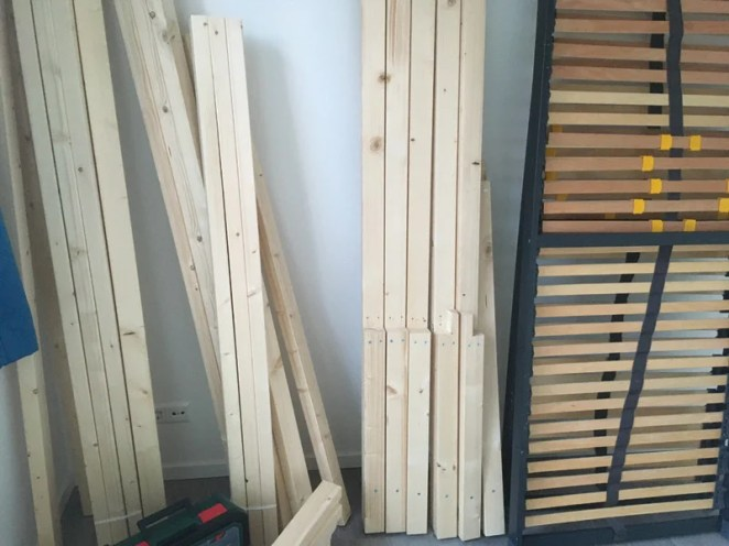 When we asked Jolien how much wood she used, she merely said 'a lot'