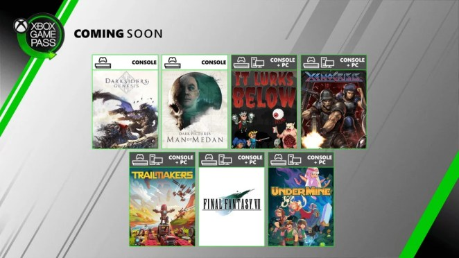 Xbox Game Pass - Coming Soon - August 2020