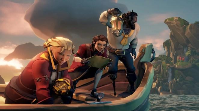 Pirates near bay