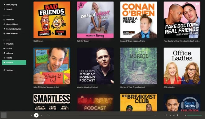 Listen to all your favourite podcasts directly from Mopidy and discover new shows with the iTunes Podcast catalogue