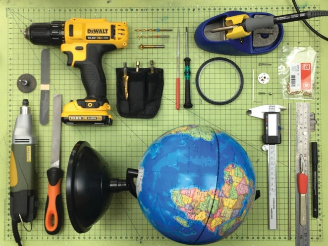 Just a few of the tools and items you need to build such a device