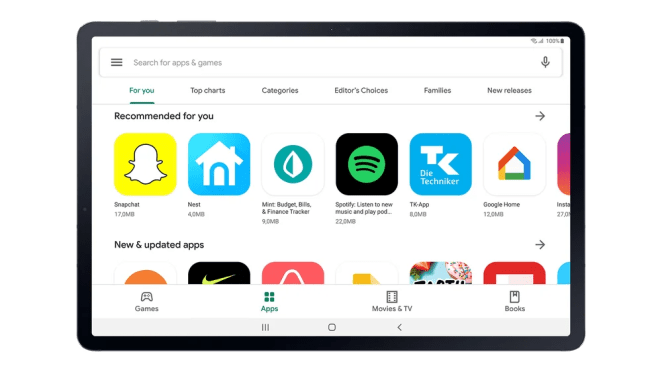There are more than one million tablet-optimized apps on the Play Store.