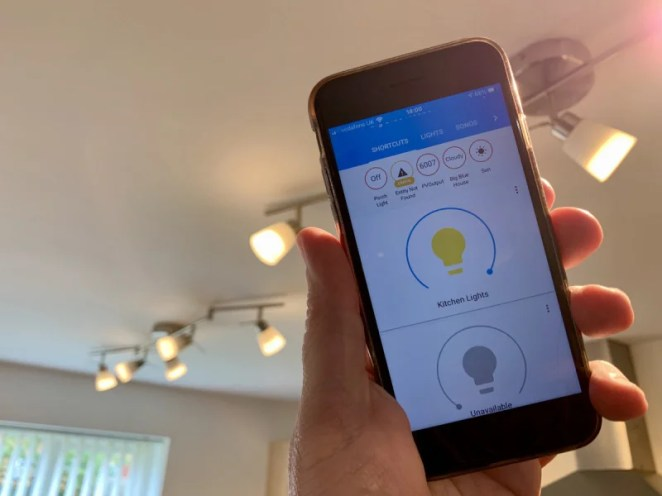 Home Assistant runs in your browser or as a smartphone app