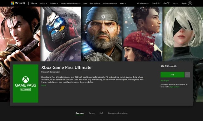 Xbox Game Pass Ultimate Gift Subscriber