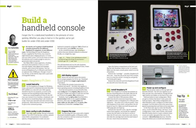 Build your own Handheld Console with Raspberry Pi