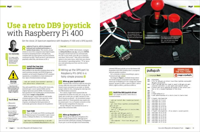 Use a retro DB9 joystick with Raspberry Pi 400