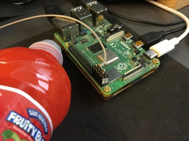 Figure 3: Photograph of Raspberry Pi computer connection