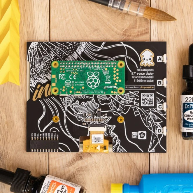 A Raspberry Pi Zero fits neatly on the rear, or the HAT can be mounted on a fullsize model with the extra female header and standoffs