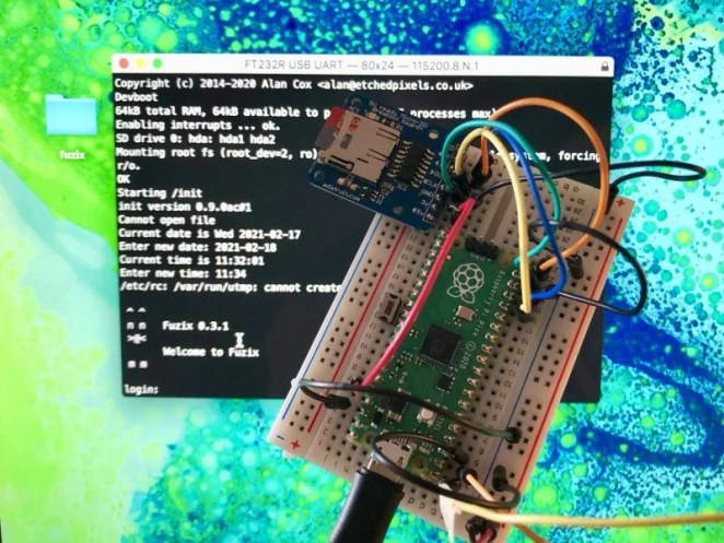 FUZIX running on Raspberry Pi Pico