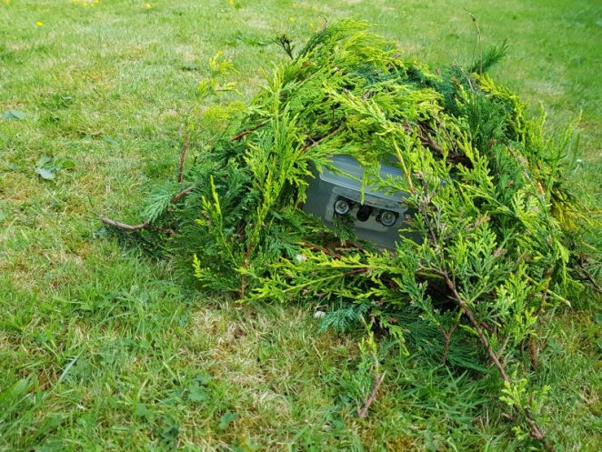 A MonthOfMaking project: a wildlife camera camouflaged in branches