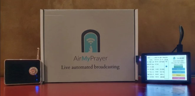 The home AirMyPrayer has many features that make it easy to connect to the internet to receive calls to prayer
