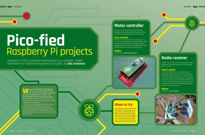 Pico-died Raspberry Pi projects