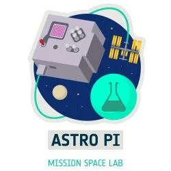 Logo of Mission Space Lab, part of the European Astro Pi Challenge.