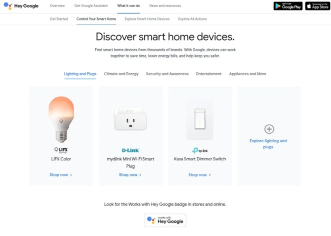 Google smart home directory