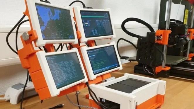 four screen cyberdeck