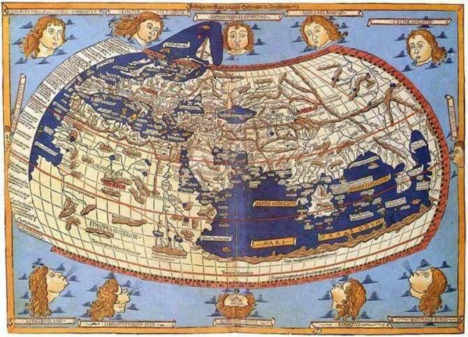 Le monde vu par Ptoméléé en 1482