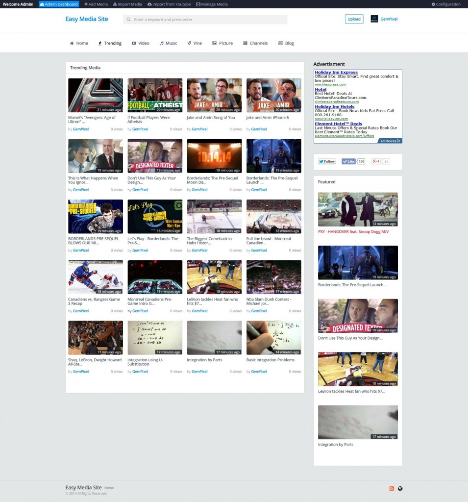 video sharing php script