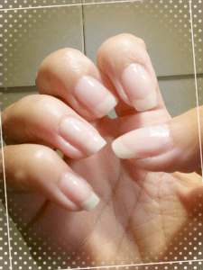 French manicure Essence gel nails at home