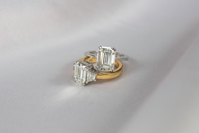 Emerald cuts ringen