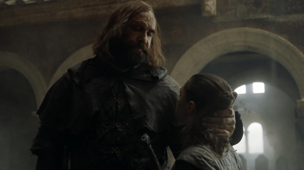 Despedida Arya y el Perro. Fuente: HBO