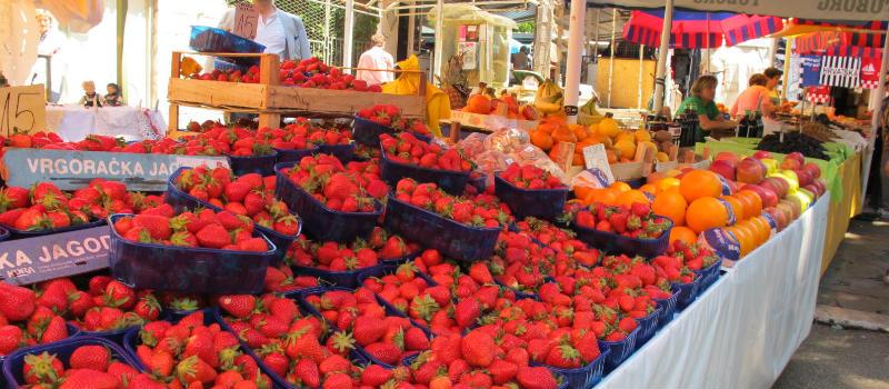 mercado de vegetais split