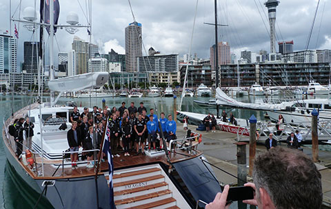 America's Cup challenge Royal Visit NZ