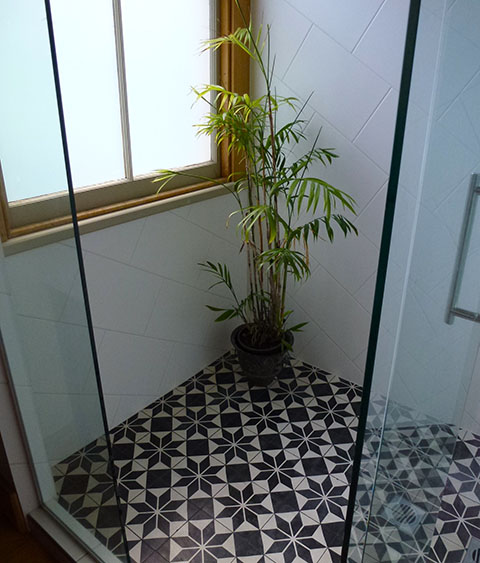 Ara Station shower floor