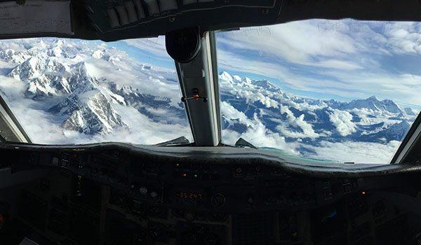 Flying over Everest