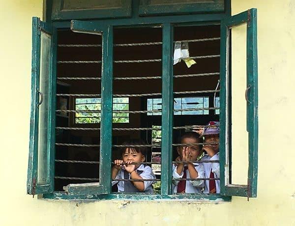 Kids at Little Dafodills school Nepal
