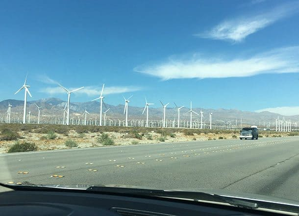 Arriving in Palm Springs
