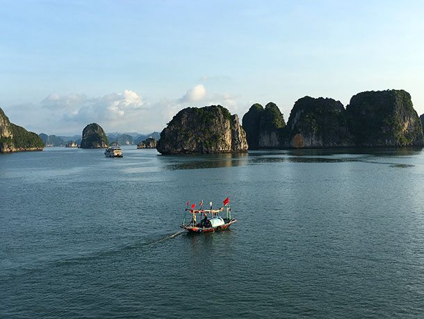 View over Ha Long Bay
