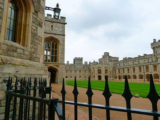 Windsor castle inner grounds
