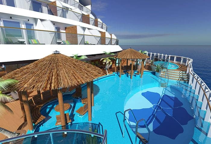 Havana private pool on Carnival Panorama