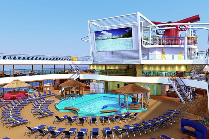 Pool deck on Carnival Panorama