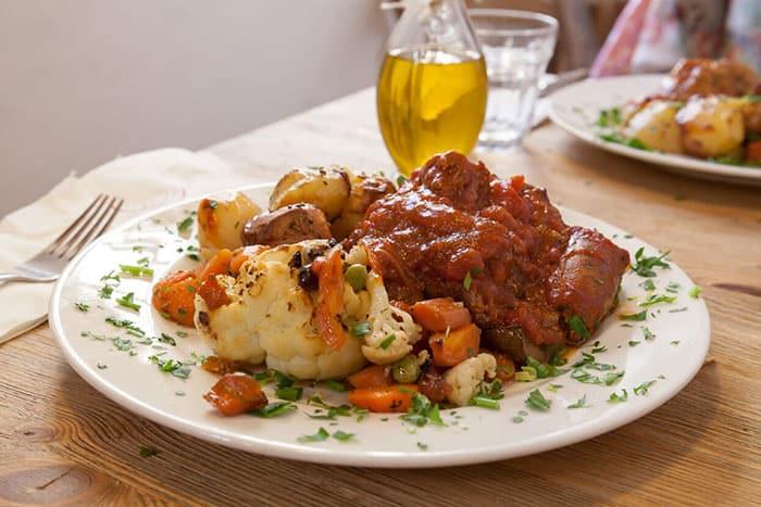 plate of bragioli Malta