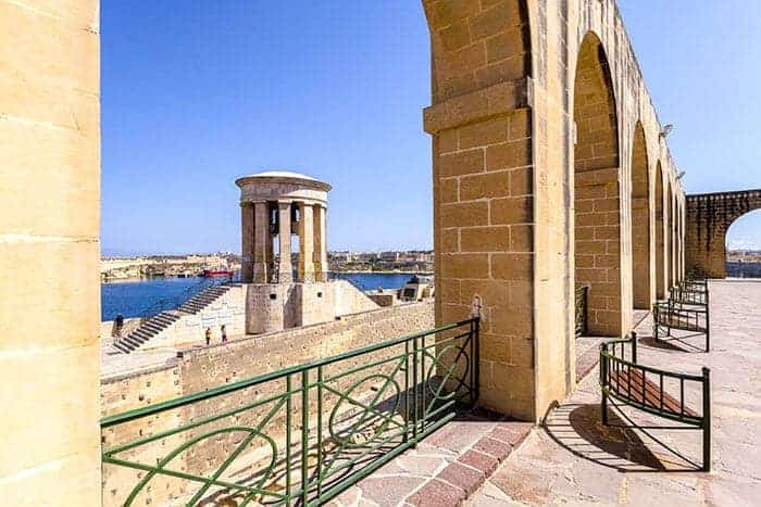 upper barrkka gardens Malta