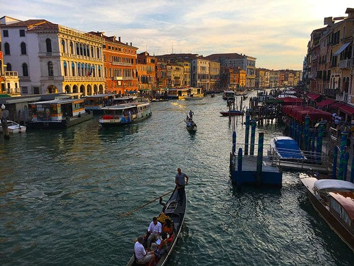 Venice Grand Canal from Rialto