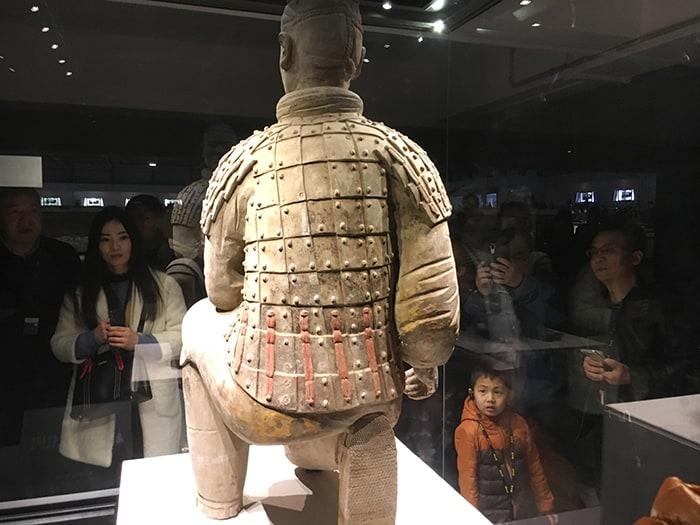 archer warrior in terracotta army museum